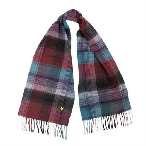 LYLE&SCOTT sciarpa tartan BORDEAUX