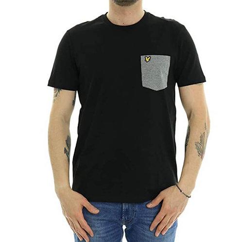 LYLE & SCOTT - T-shirt Pocket Black/Grey