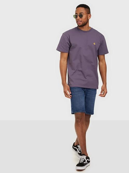 SOLID short jeans blue medio