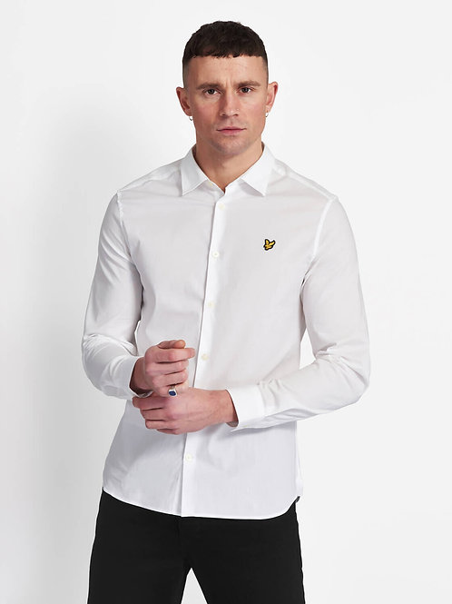 LYLE & SCOTT -slim  Camicia White