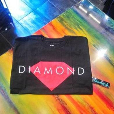 DIAMOND- T-shirt Black  Made In Usa