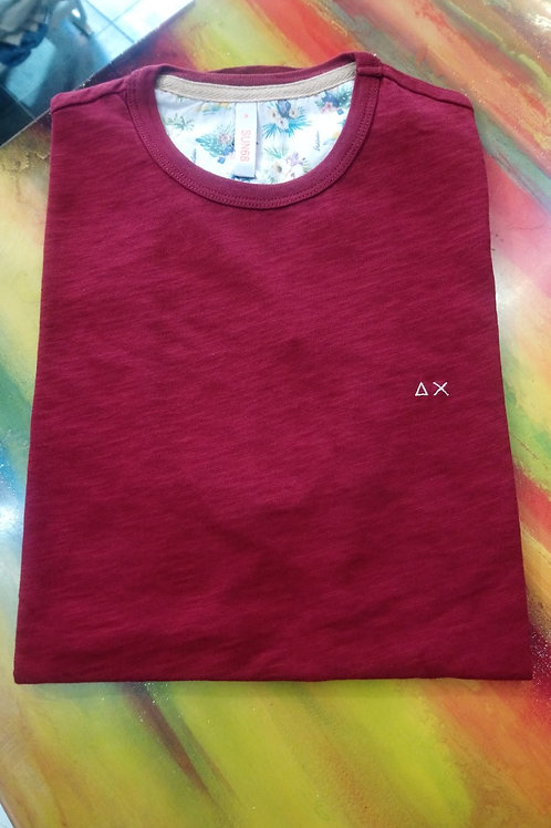 SUN 68 - T-shirt bordeaux