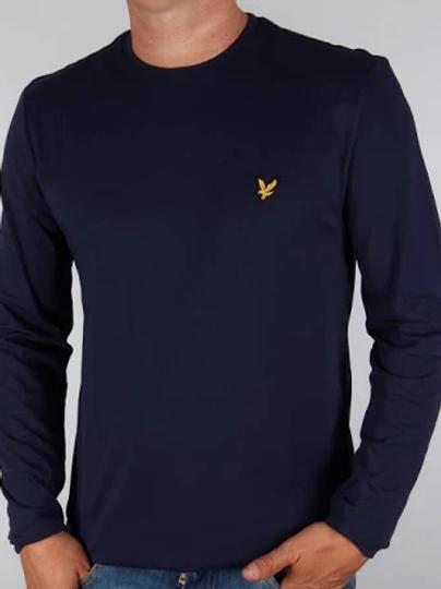LYLE &SCOTT - T-shirt lunga NAVY