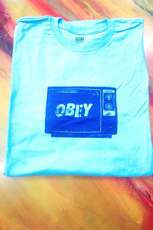 OBEY - T-shirt acqua marina