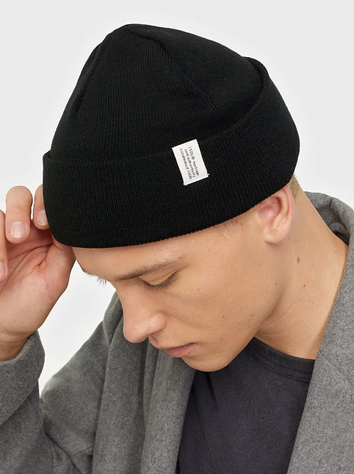 SOLID beanie BLACK