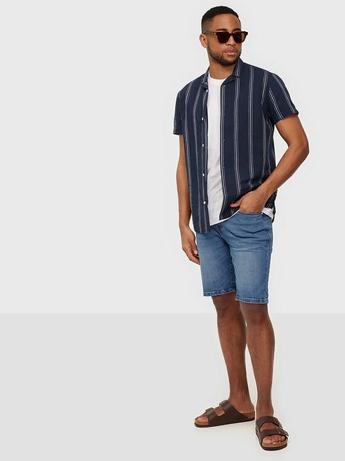 SOLID short jeans blue chiaro