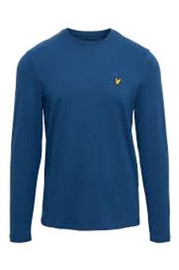 LYLE &SCOTT - T-shirt lunga INDIGO