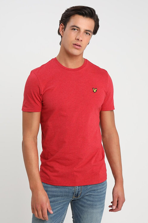 LYLE &SCOTT - T-shirt Dark Red Marl