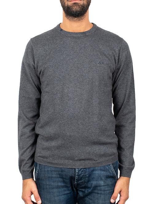 SUN68 - Maglione lana e cotone GREY