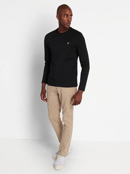 LYLE &SCOTT - T-shirt lunga BLACK
