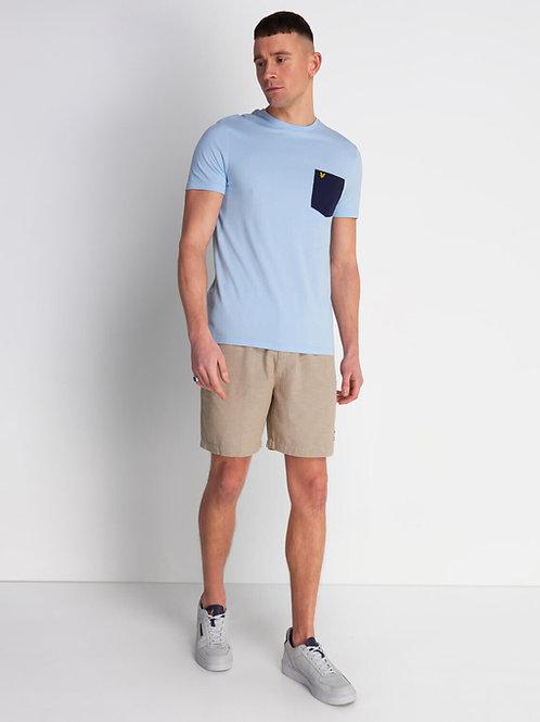 LYLE & SCOTT - T-shirt Pocket Pool Blue/Navy