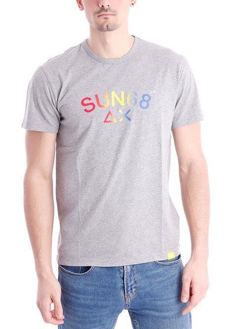SUN 68 - T-shirt Mid Grey