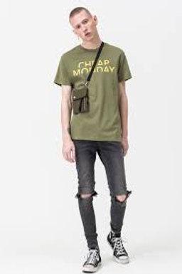 CHEAP MONDAY - T-shirt OLIVE