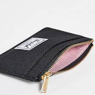 HERSCHEL -OSCAR-Porta card con zip-BLACK