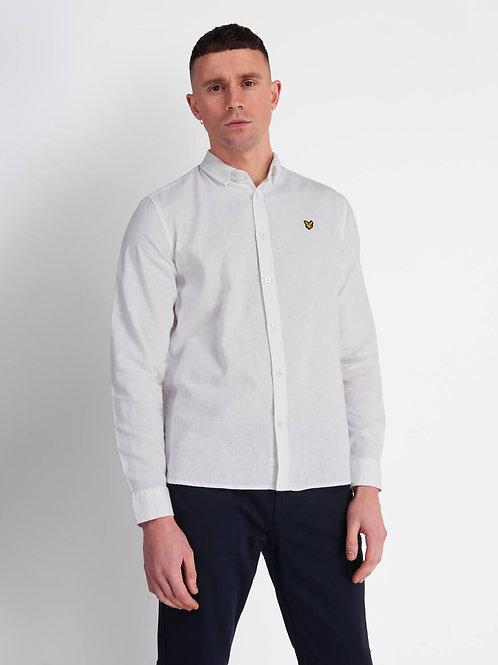 LYLE & SCOTT - Camicia Lino White