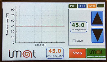 Display of nanothermic Imat heat tranfer