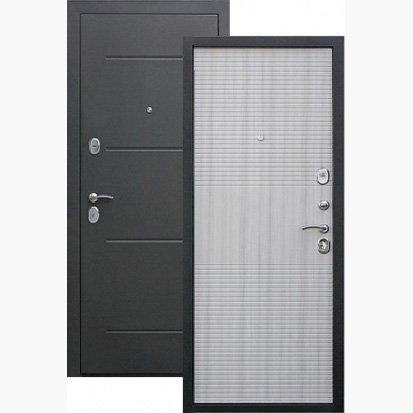 Металлическая сейф дверь Гарда муар 7,5 Белый ясень