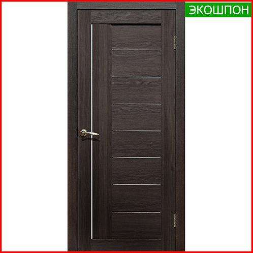 Дверь межкомнатная La Stella 201 в экошпоне цвет каштан темный по низкой цене с доставкой и установкой в Екатеринбурге