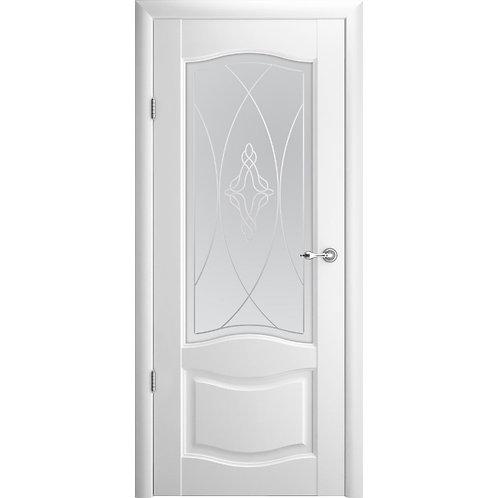 Межкомнатная дверь Vinyl Лувр-1 ДО  белый