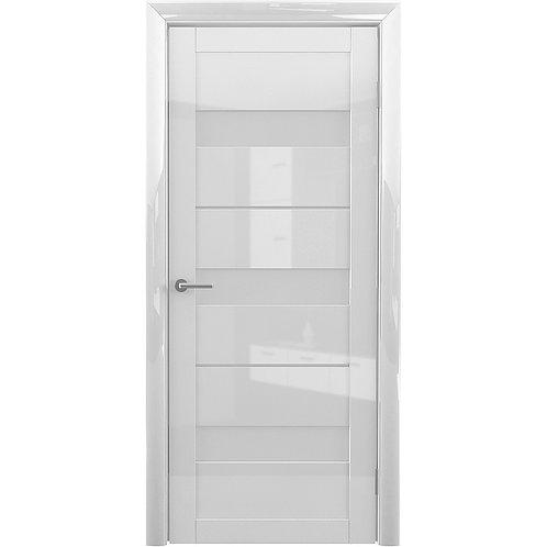 Межкомнатная дверь ГЛЯНЕЦ Прага ДО белый
