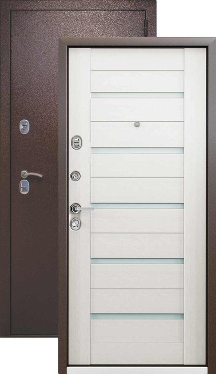 Металлическая сейф дверь Страж Kvadra-3K Techno (медный антик/беленный венге