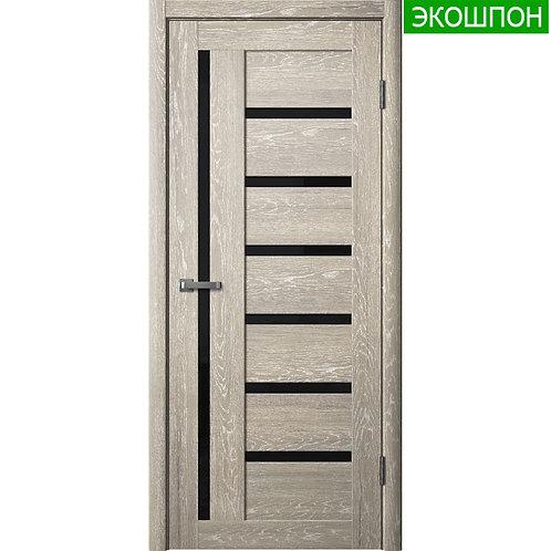 Межкомнатная дверь Модель ЦДО 10 (Черное стекло) Экошпон