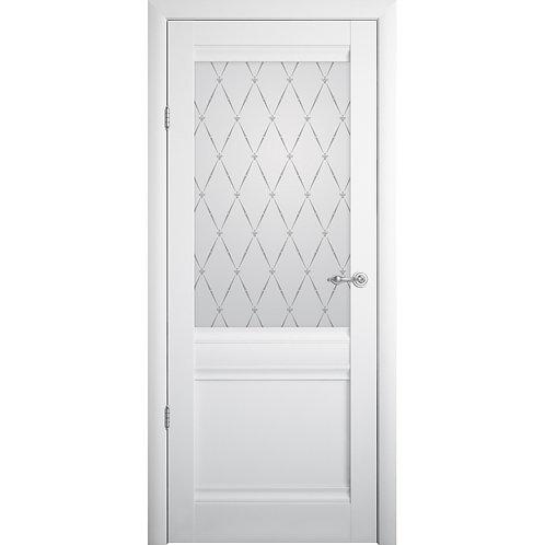 Межкомнатная дверь Vinyl РИМ ДО  белый винил