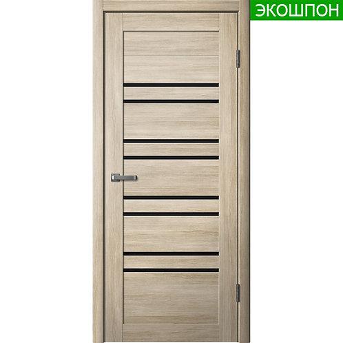 Межкомнатная дверь Модель ЦДО 14 (Черное стекло) Экошпон