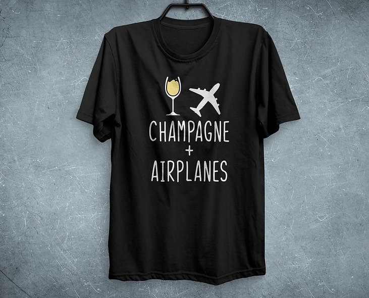 Champagne + Airplanes Tee