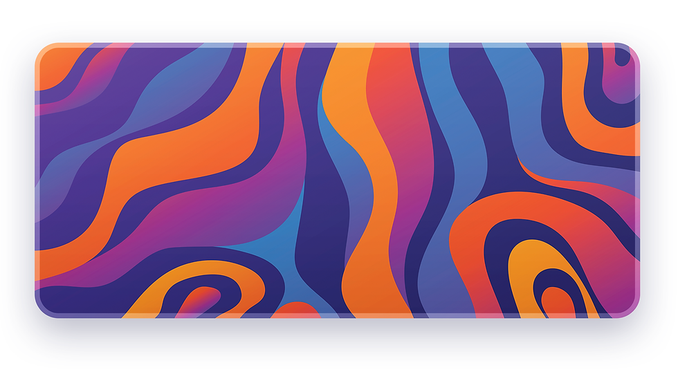 Abstract Purprange XXL Deskpad (Groupbuy)