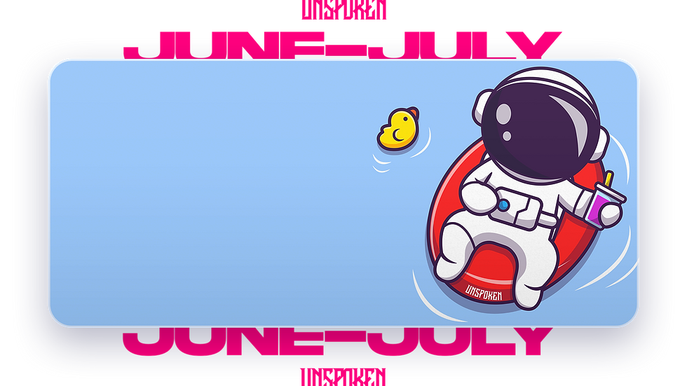 Relaxing Spaceman XXL Deskpad (Groupbuy/June-July)