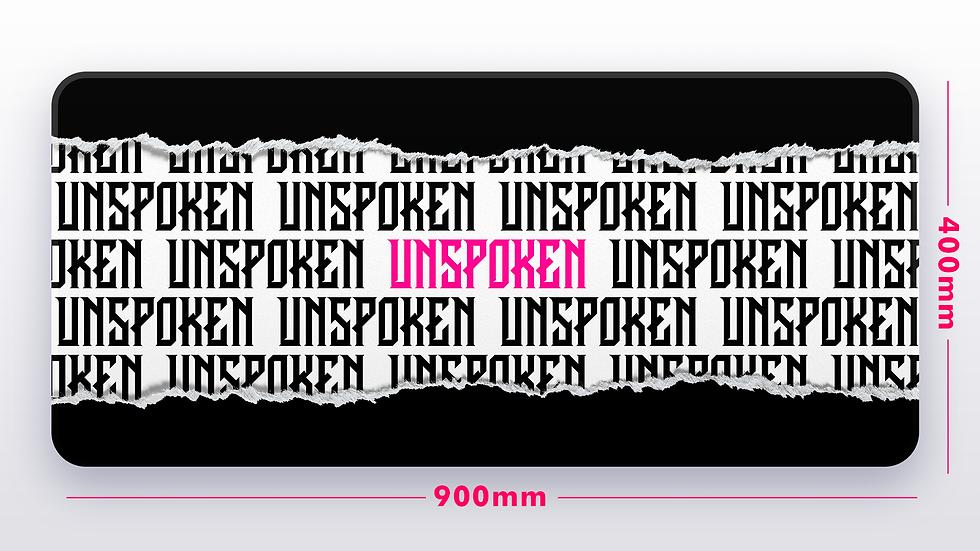 Black Ripped Page XXL Deskpad (GroupBuy)