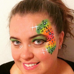 Rainbow Cheetah elaborate eye
