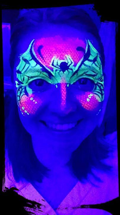 DayGlow Spider Mask
