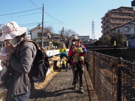 2021.1.22  青梅おたま/川沿い散歩に林遊び