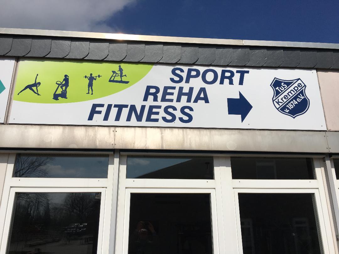 Schild Fitnessstudio