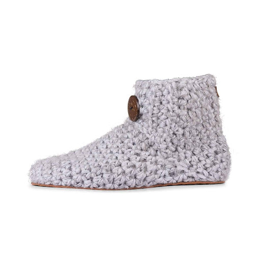Soft Grey Bamboo Wool Slippers