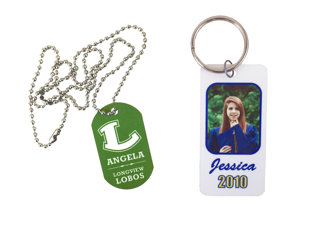 School Dog Tag Senior Key Chain
