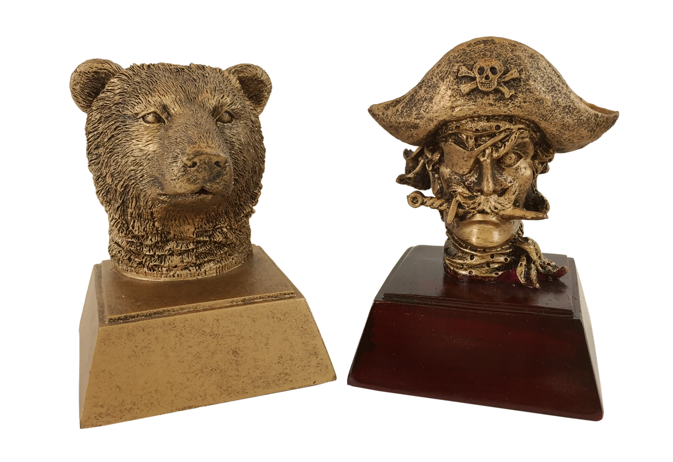 School Mascot Resin Trophies