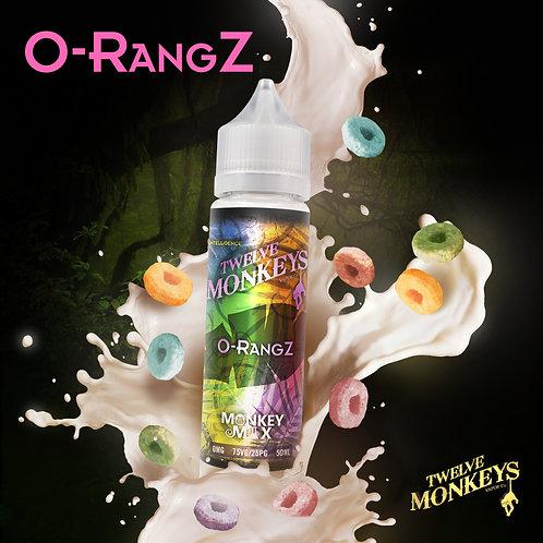 12 Monkeys O-RangZ 50ml Short Fill