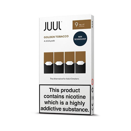 JUUL Golden Tobacco 4pk Available in 18mg and 9mg