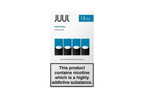 JUUL Menthol 4pk Available in 18mg