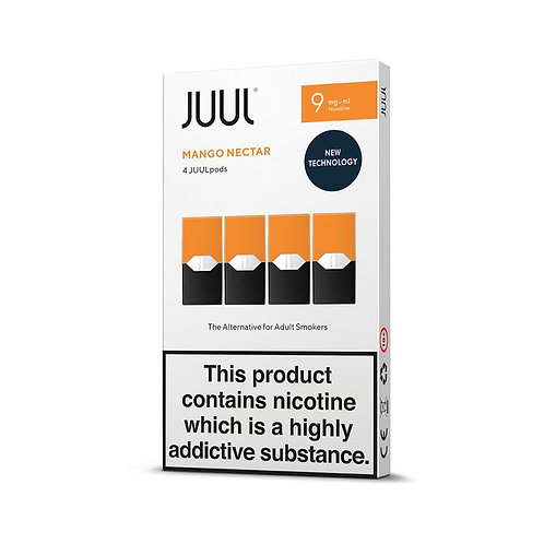 JUUL Mango Pods 4pk Available in 18mg & 9mg