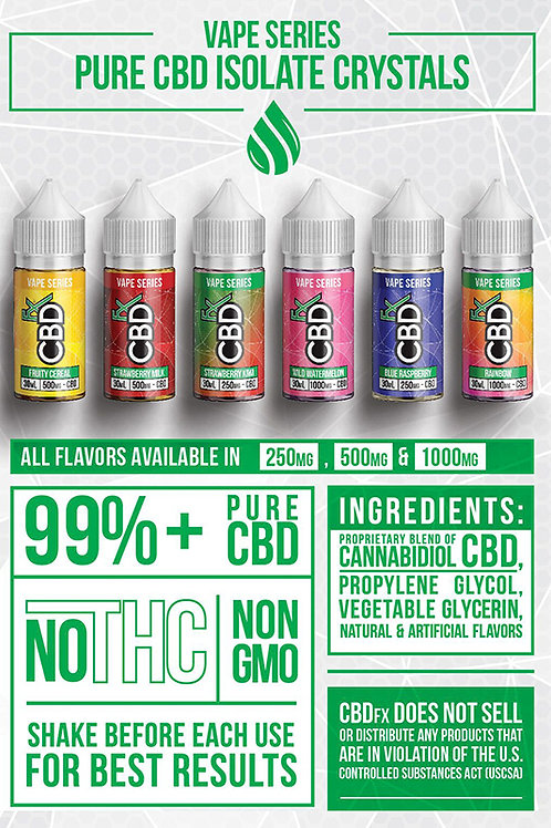 CBD Fx VAPE JUICE 30ml 500mg