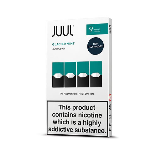 JUUL Glacier Mint Pods 4pk Available in 18mg and 9mg