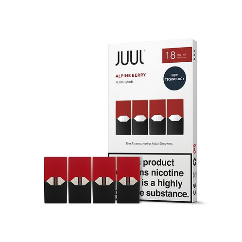 JUUL Alpine Berry Pods 4pk Available in 18mg