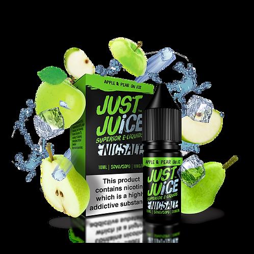 Just Juice Apple & Pear on Ice NICSALT 10ml 11mg or 20mg