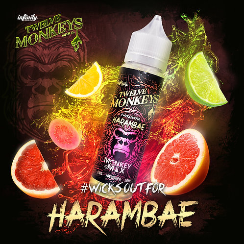 12 Monkeys Harambae 50ml Short Fill
