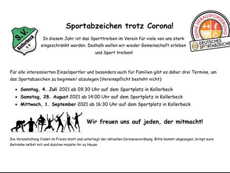 Sportabzeichen in Kollerbeck!