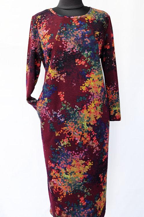 Платье бордо 9702
